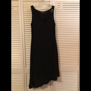 Donna Ricco Dress Black, Asymmetrical Hemline